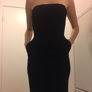 BLACK SLEEVELESS DRESS WITH CORSET